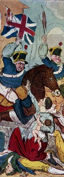 Detail showing Peterloo Massacre