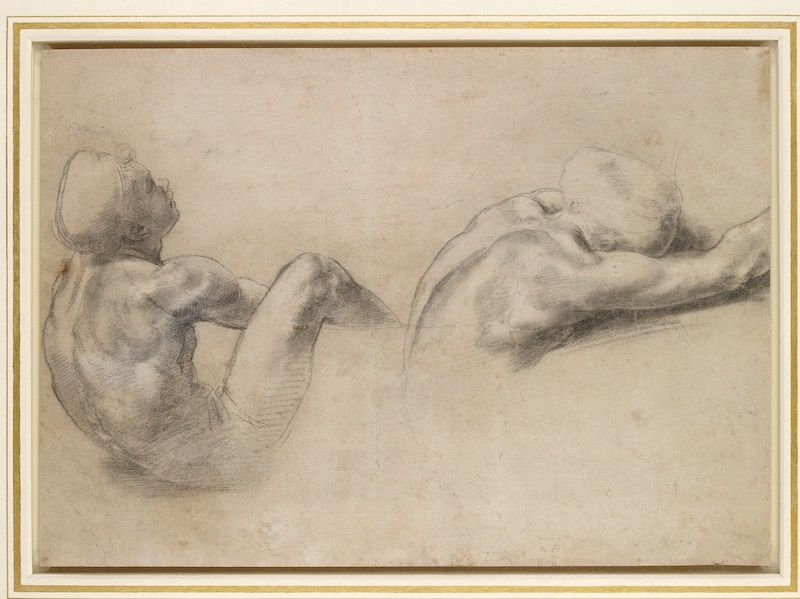 Raphael, Study of two male nudes, c. 1519