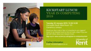 year in computing kick start lunch