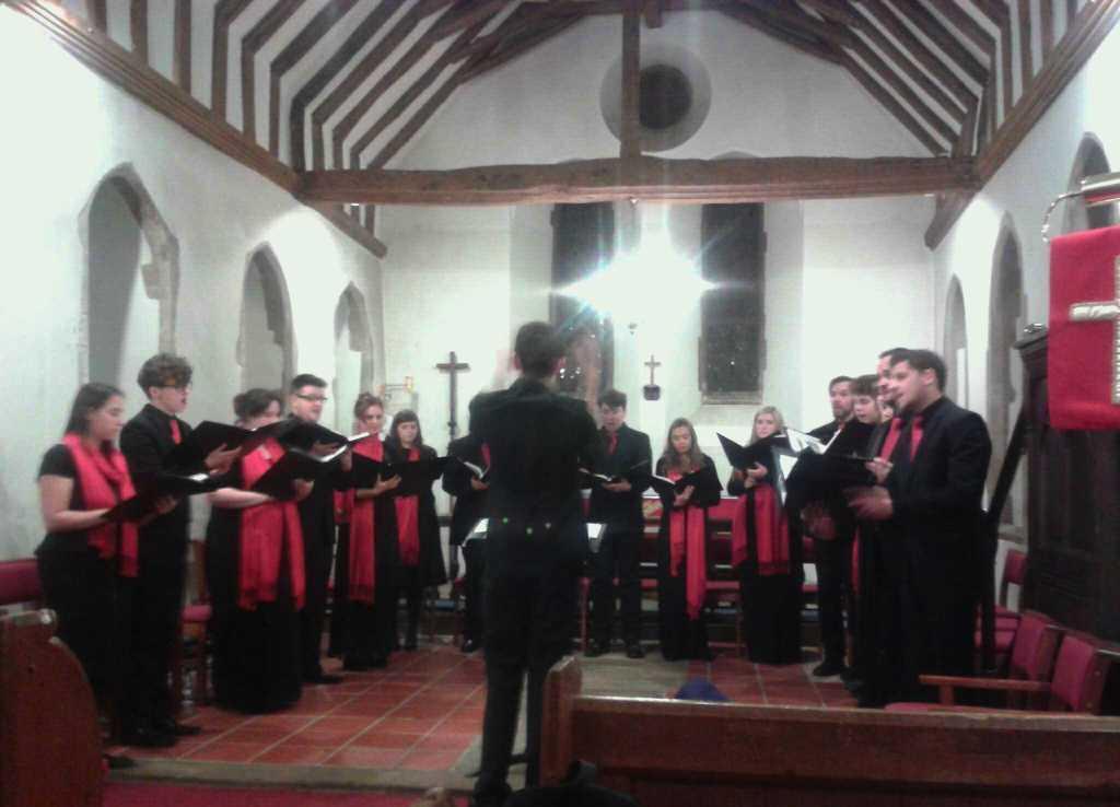 Matt rehearsing the Chamber Choir