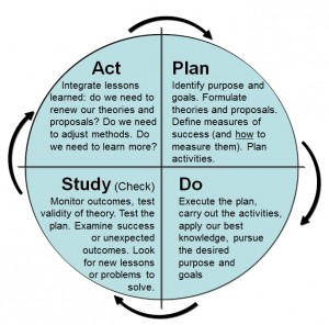 The Learning Cycle (adapted from Scholtes 1998)