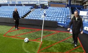 grass area corner football