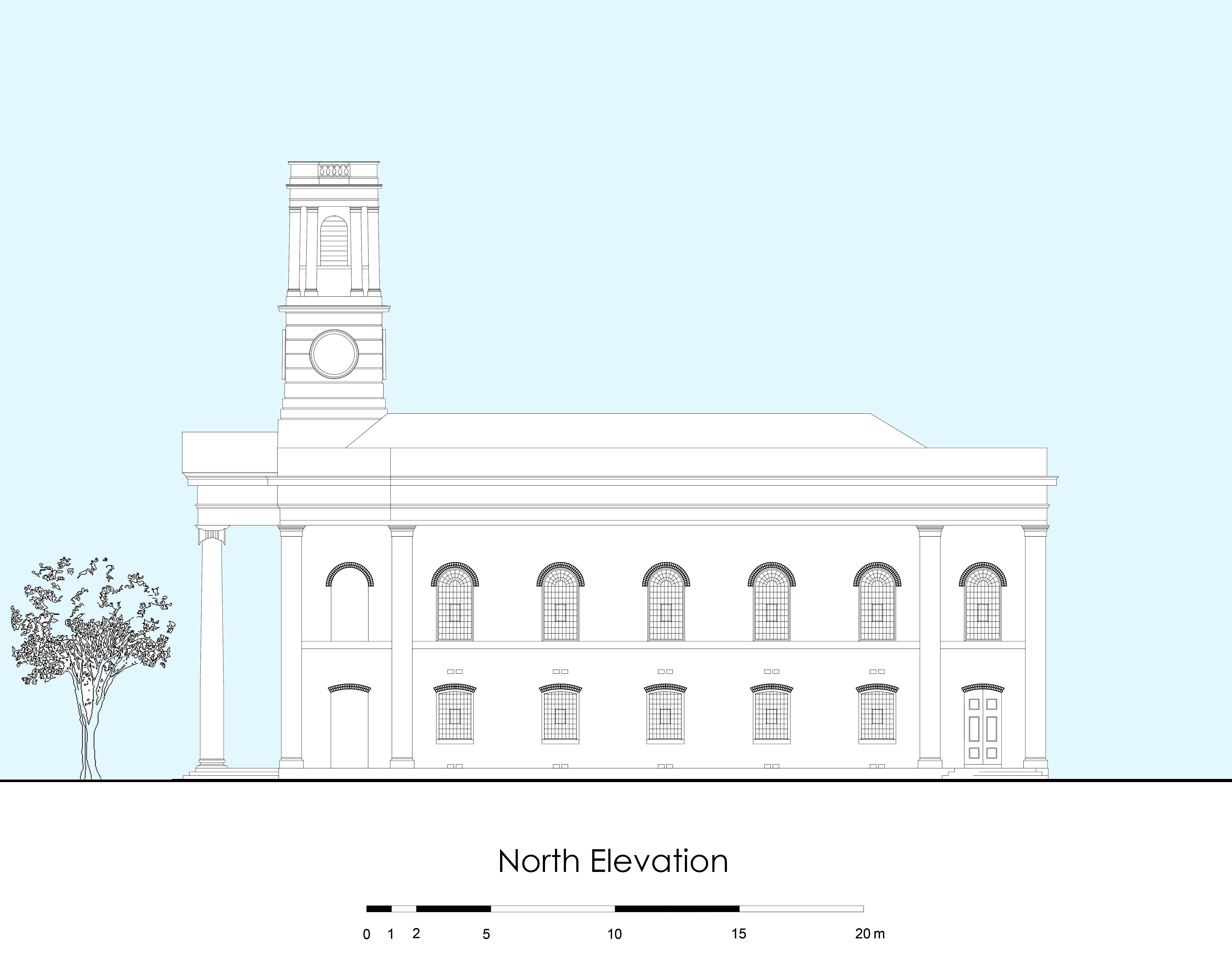 Reconstructed side elevation