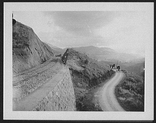 "Near Haputale - ""the two ways"" rail and road. Haputale Sri Lanka, 1895. Photographer: William Henry Jackson"