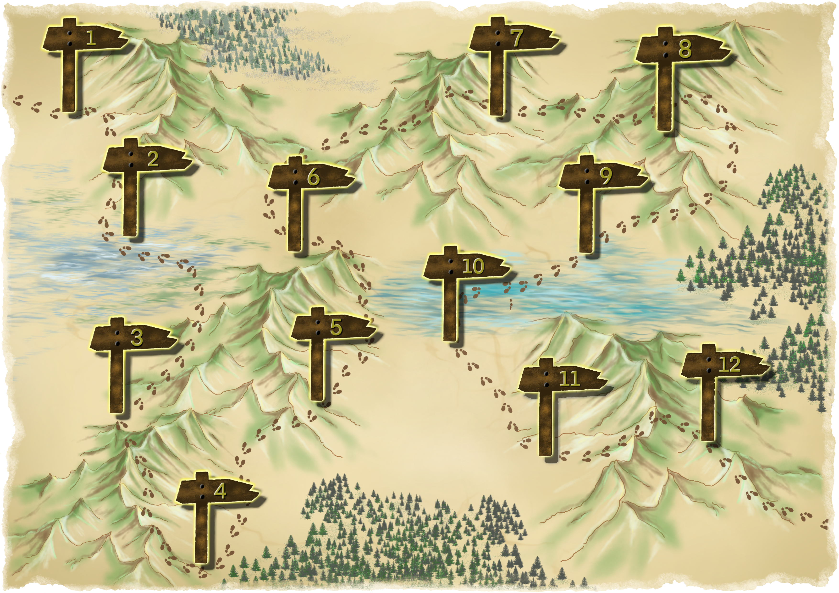 A map of the Mountains of Metaphor