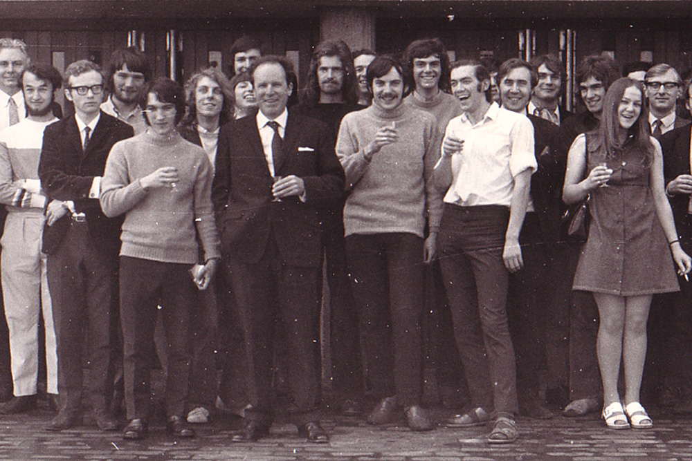 Students and staff in 1971