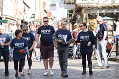 2015 Canterbury Legal Walk participants in Canterbury