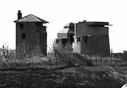 Second World War fortifications guarding the docks at Sheerness on the Isle of Sheppey.
