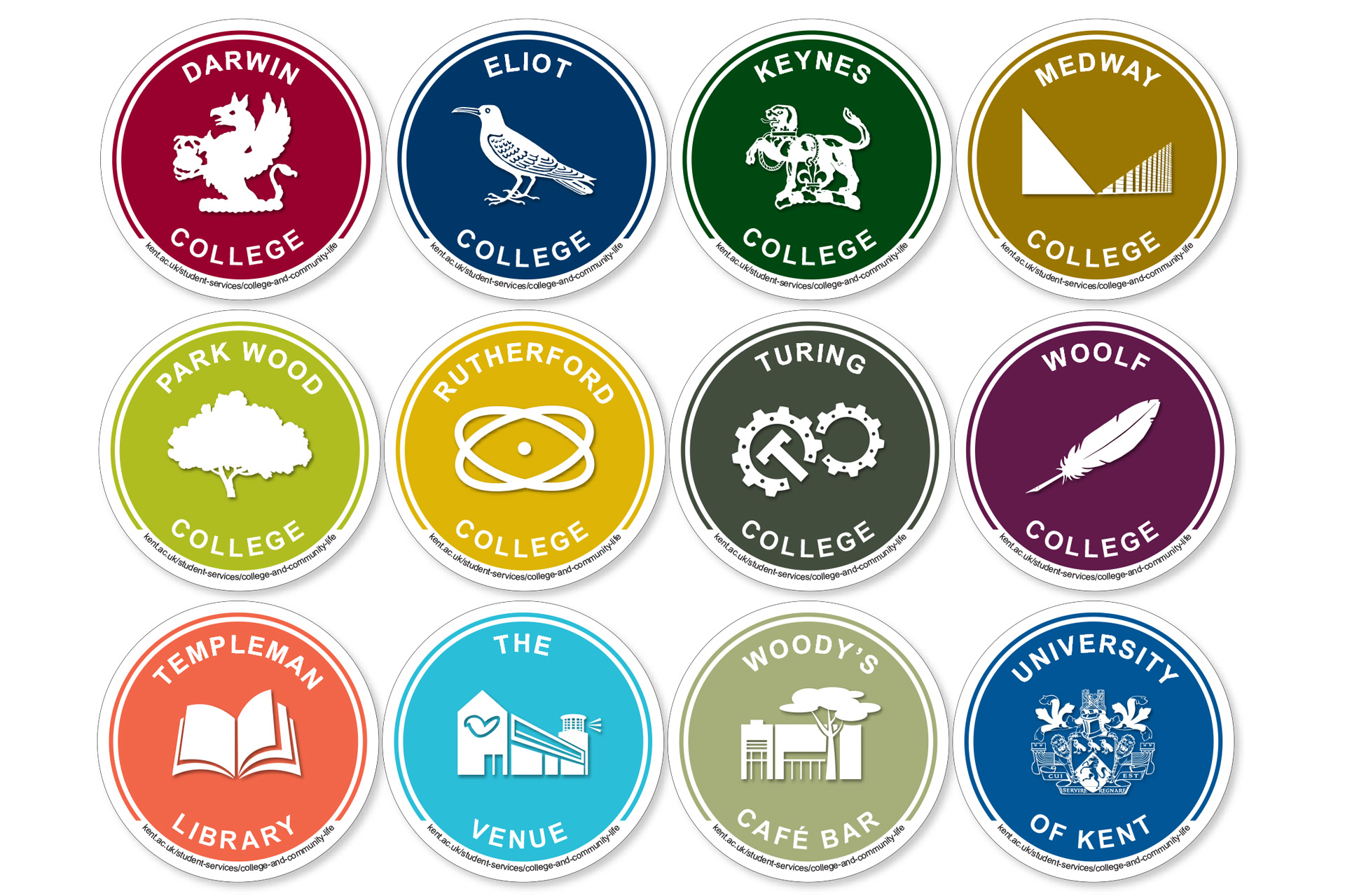 All 12 College (and other) Coasters