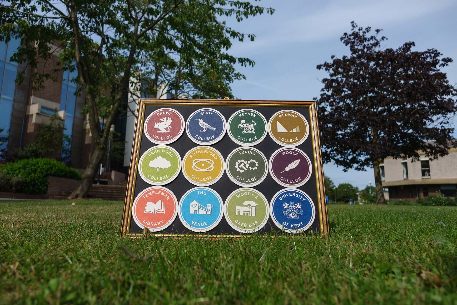 College Coasters outside the Templeman Library