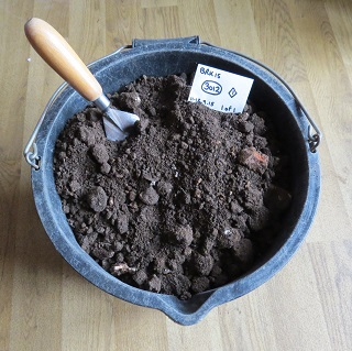 Collected soil from Jonathan's dryer