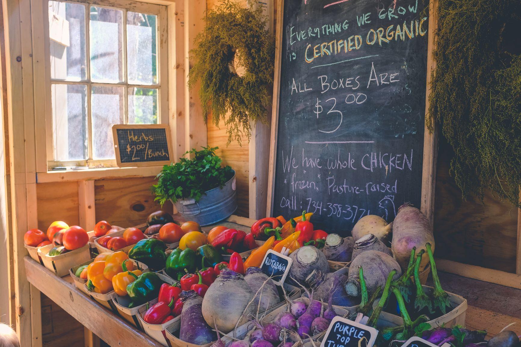 organic food shop produce