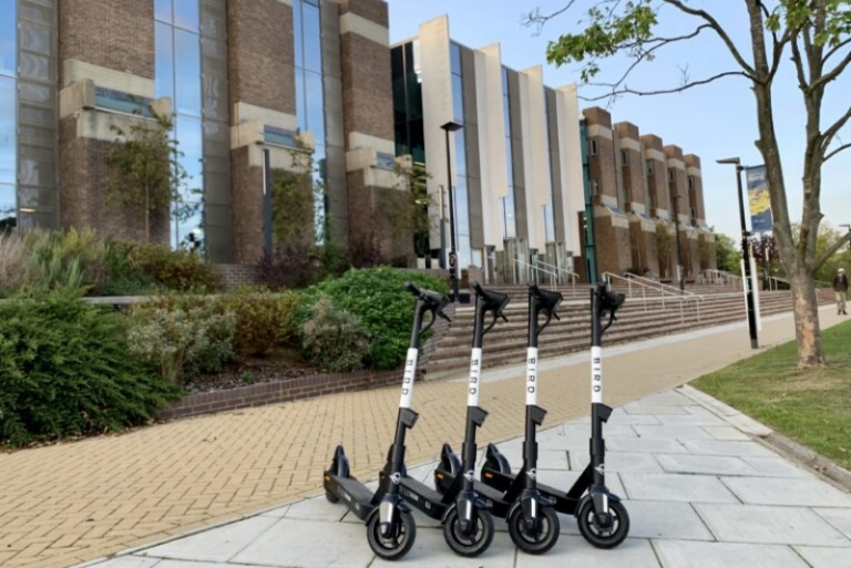 E-scooter on campus