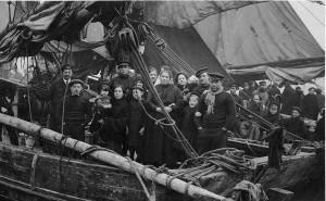 Belgium Refugees-inner harbour