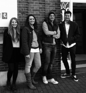 School of History postgraduates involved in the Tunbridge Wells project: Emily Bartlett, Emma Purce, Paul Ketley and Jack Davies