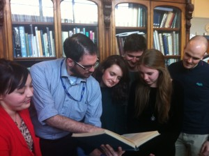 Undertaking research at the Tunbridge Wells Museum