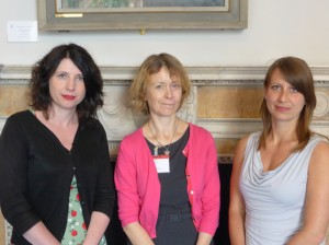 Conference convenors (l to r)Clare Langhamer, Lucy Noakes and Claudia Siebrecht.