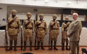 15th Ludhiana Infantry Regiment' (National Army Museum War and Sikhs project) with Brian Fitch, Mayor of Brighton. Brighton Dome.