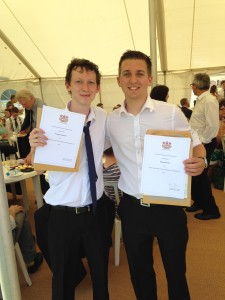 Thomas Cheetham and Thomas Davies were announced as winners of the, 'Best Final Year Dissertation (War Studies)' prize
