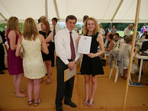 Congratulations to Hayley Pain who was awarded with the Copley prize for 2014 by Head of School Professor Kenneth Fincham