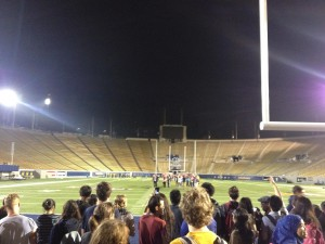 The California Memorial Stadium, located on campus