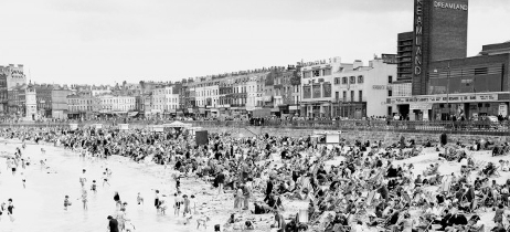 The beach at Margate, Kent in July 1946