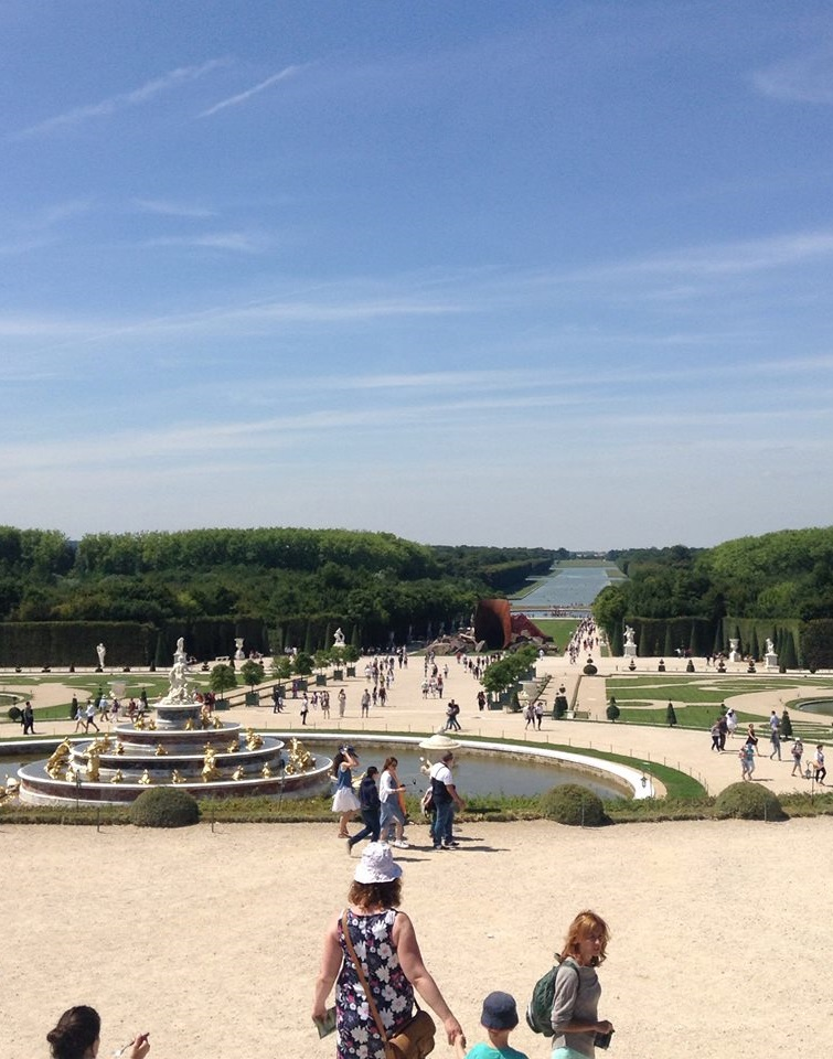 The gardens of Versailles. The scale takes some getting used it.