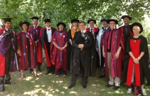 Some of our academic staff were delighted to celebrate with this year's graduates
