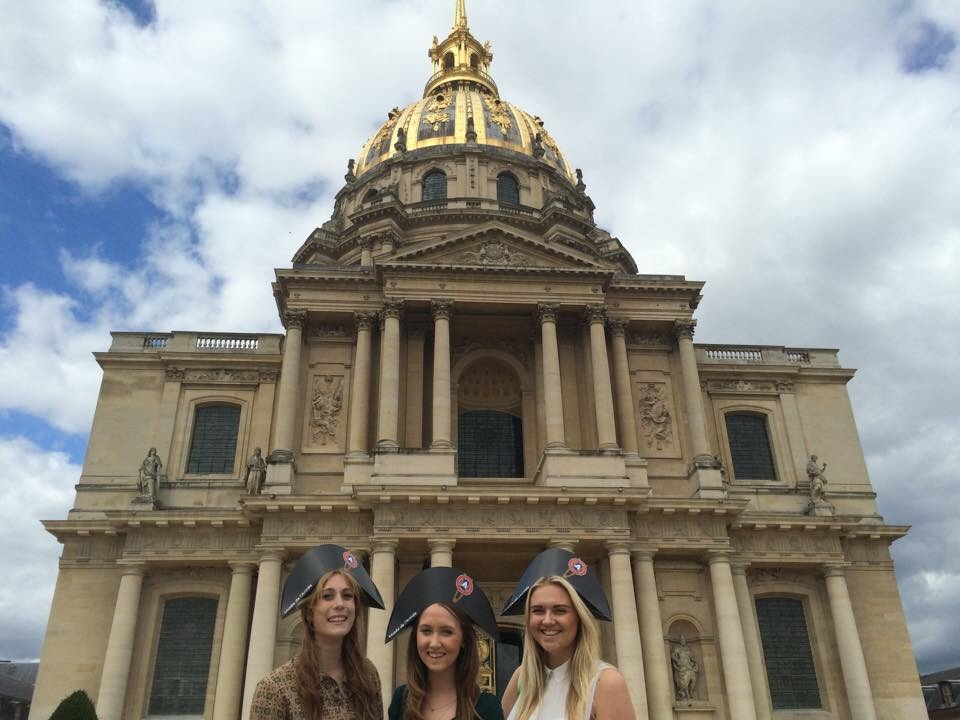 The Dôme des Invalides, and some Napoleonic students.