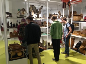Students examining the variety of artefacts in the Museum's interactive Gallery 6. The Museum is currently looking for volunteers to help support the work in Gallery 6 during school holidays – for more information, see the School's Employability Portal