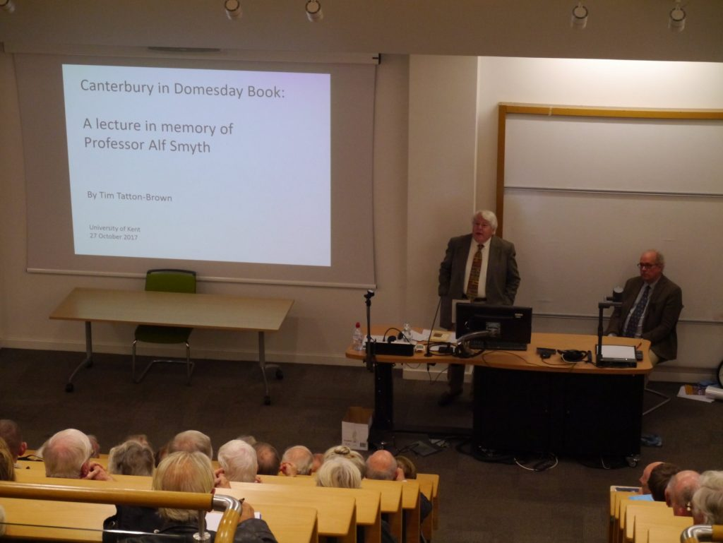 Richard Eales and Tim Tatton-Brown at the Alf Smyth Memorial Lecture 2017