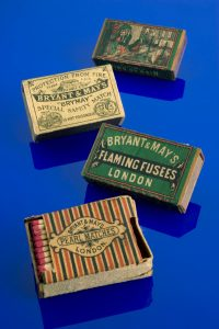 Boxes of Bryant and May matches.