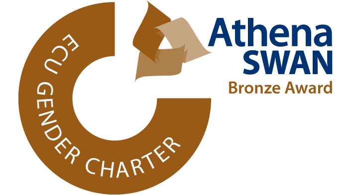The logo of the ECU Gender Charter Athena SWAN Bronze Award