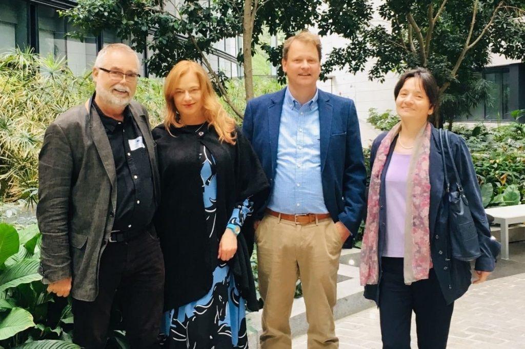 A group photograph of the main investigators on the 'Taming the European Leviathan' research project (Professor Volker Hess, Professor Judit Sándor, Professor Ulf Schmidt, Dr Anelia Kassabova)