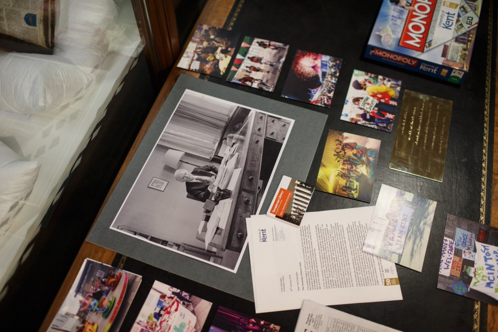 The items in the time capsule include photos, letters, games and Library memorabilia.