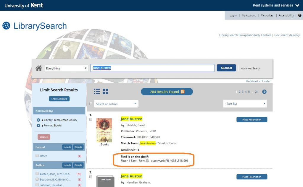 When you search for a book in LibrarySearch, look under 'Find it on the shelf' and make a note of the floor, row and classmark. This is more important than which collection the book is in, and it's updated daily.