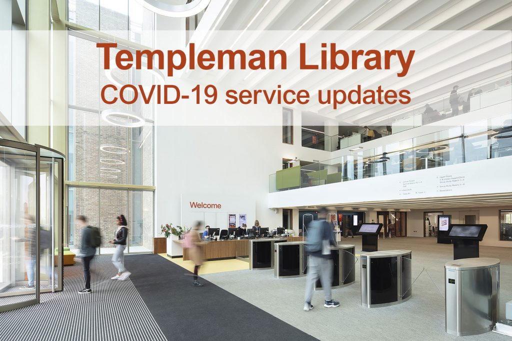Templeman Library COVID-19 service updates header