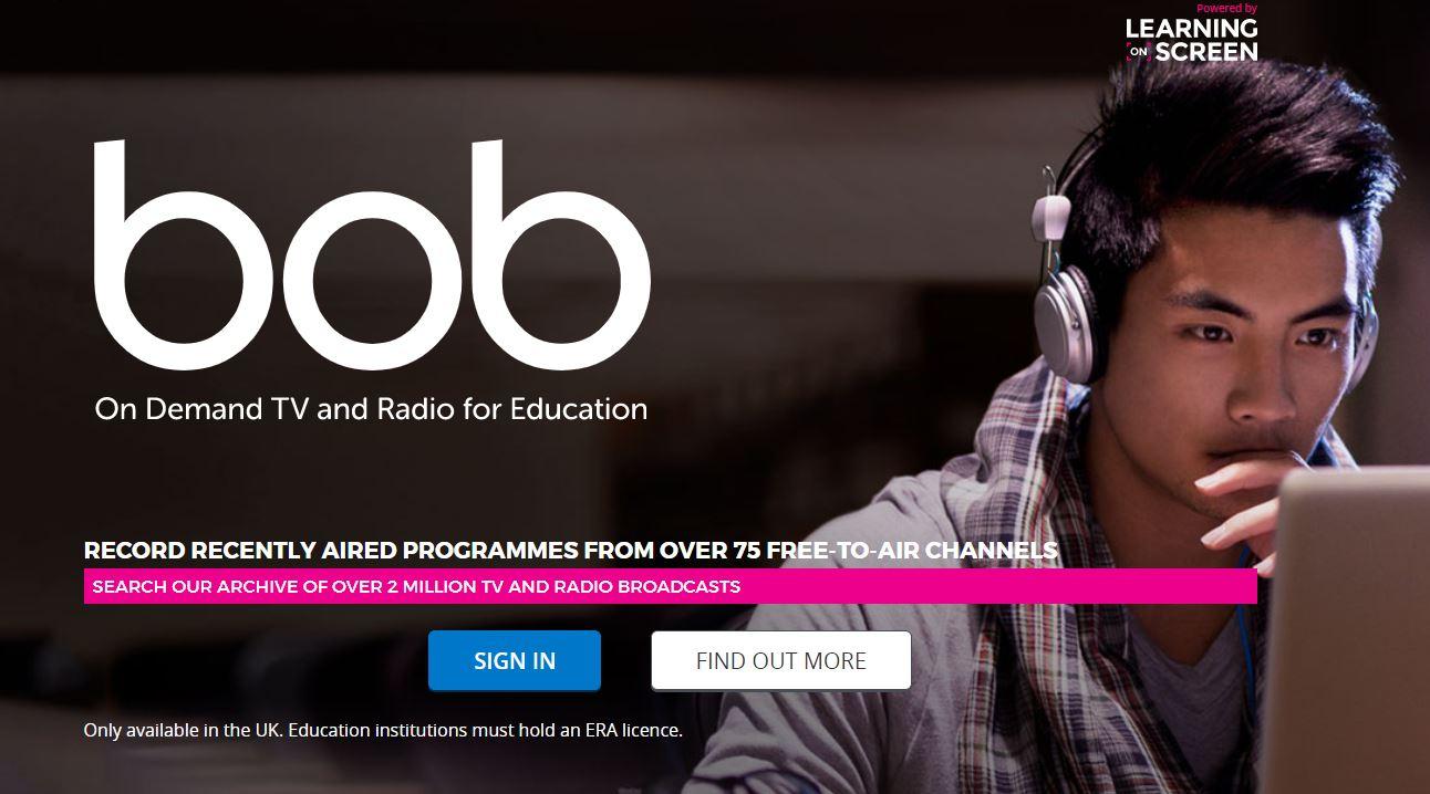 Screenshot of BoB, Box of Broadcasts