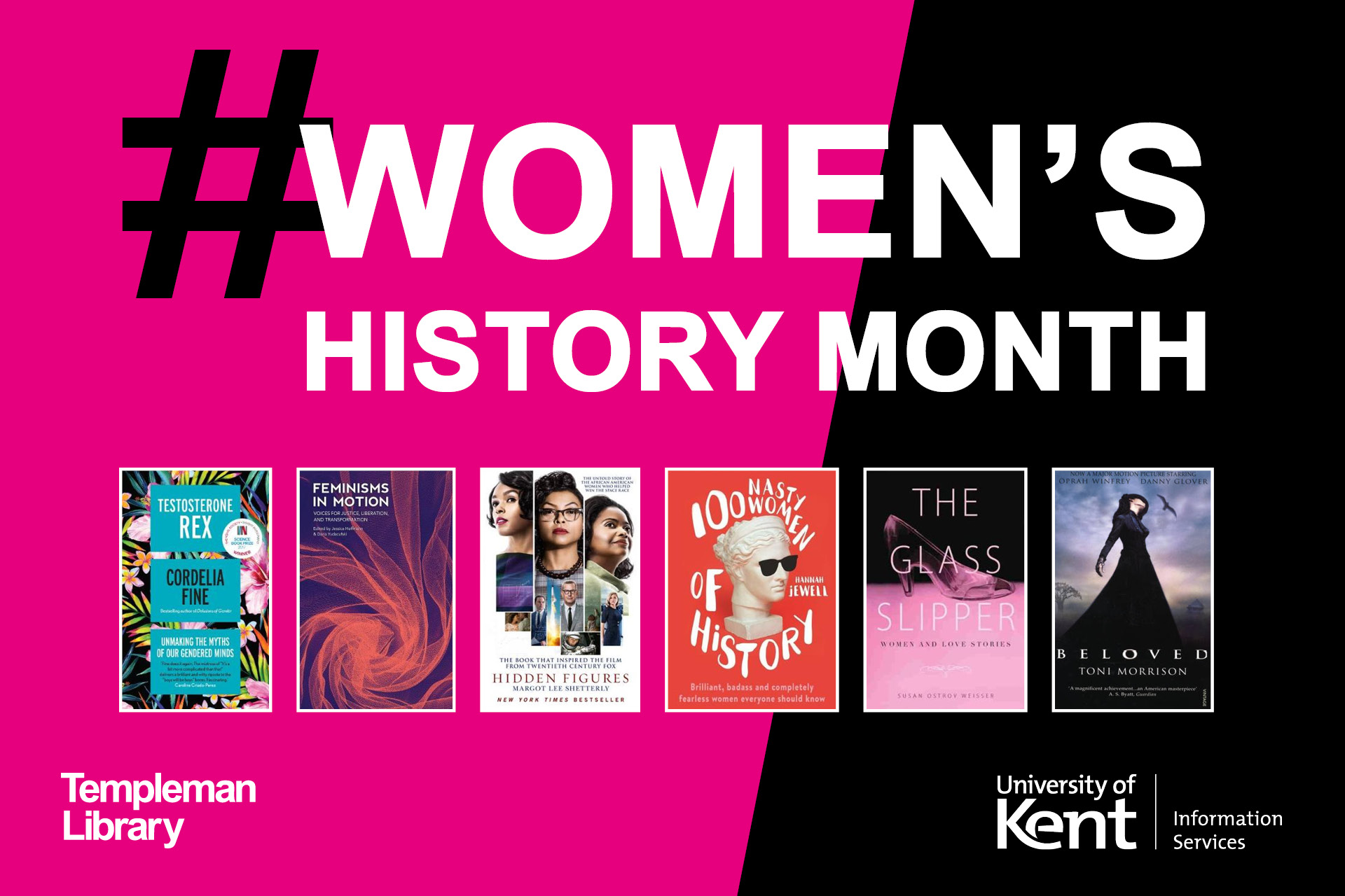 Women's History Month - featuring book covers from the Women's History Month recommended resources list