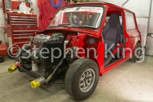 The Mini is being rebuilt from the shell of a former road Mini with parts dating from 1971. It's slow progress but getting there