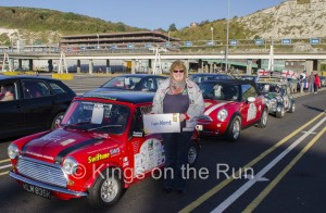 Here I am at Dover before boarding the ferry. Flying the flag for Kent!