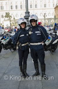 The motorcycle outriders were great
