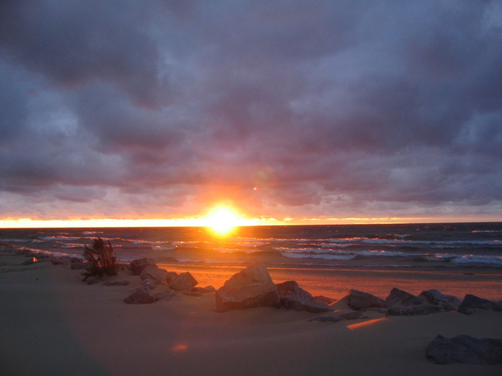 Sunset over Lake Michigan from Empire