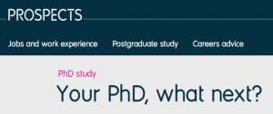 Prospects PhD logo