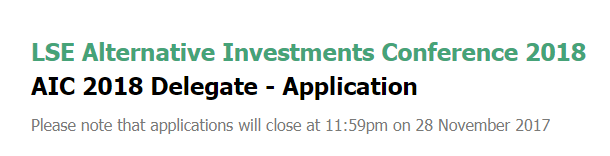LSE – Alternative Investments Event in London – Kent