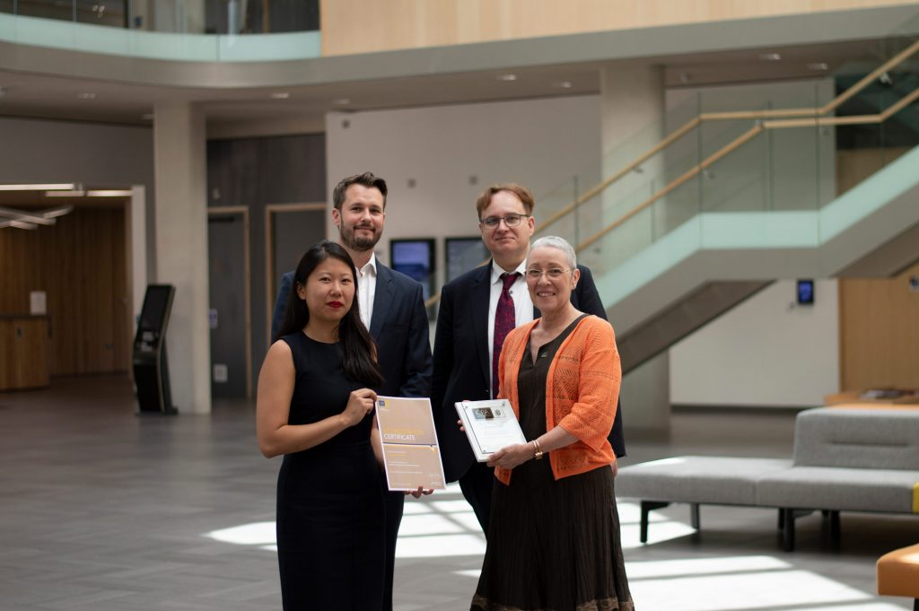 CPA visit and hand over award for the accreditation