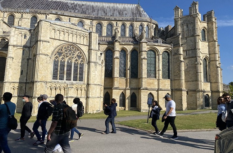 Canterbury cathedral and some MBA students