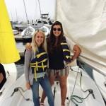 An image of Keren sailing