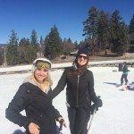 An image of Keren skiing
