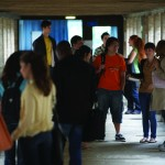 An image of students on an Open Day